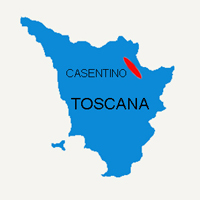 CASENTINO MAP - MAP GUIDING YOUR TRIPS IN THE CASENTINO